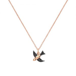 Swallow Bird CZ Necklace