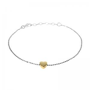 Delicate Yellow Heart Bracelet