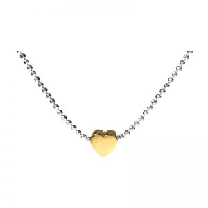Delicate Yellow Heart Necklet