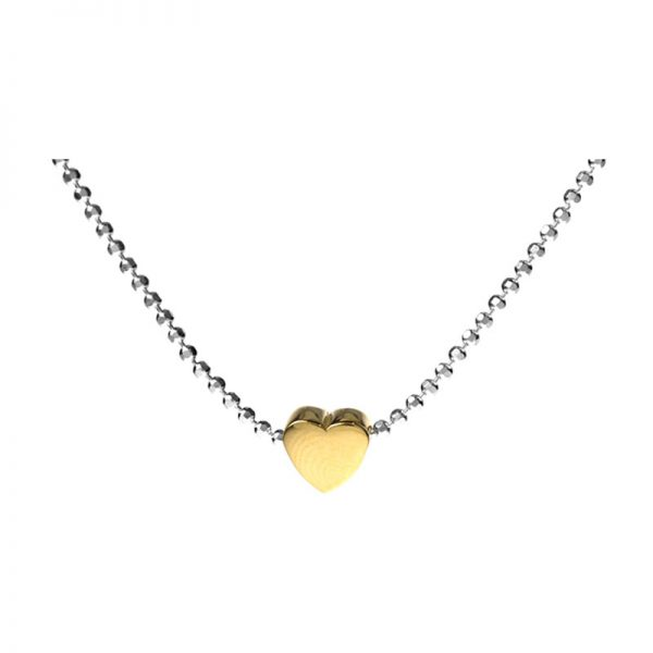 Delicate Yellow Heart Necklet