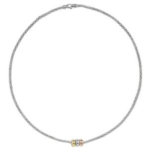 Three Tone Circle Necklace