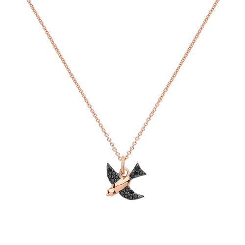 Swallow Bird CZ Necklace