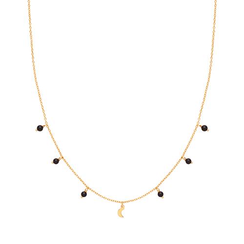 Black Agate Charm Necklace