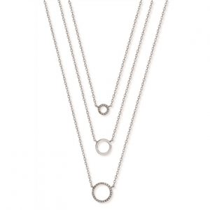 Open Circle Layered Necklace