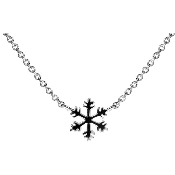 Sterling Silver Seasonal Snowflake Necklace