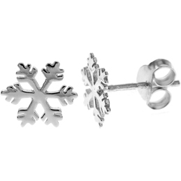 Sterling Silver Seasonal Snowflake Stud Earrings