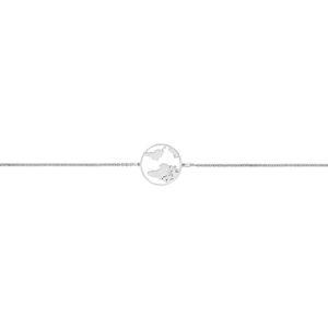 Silver Travellers Globe Bracelet