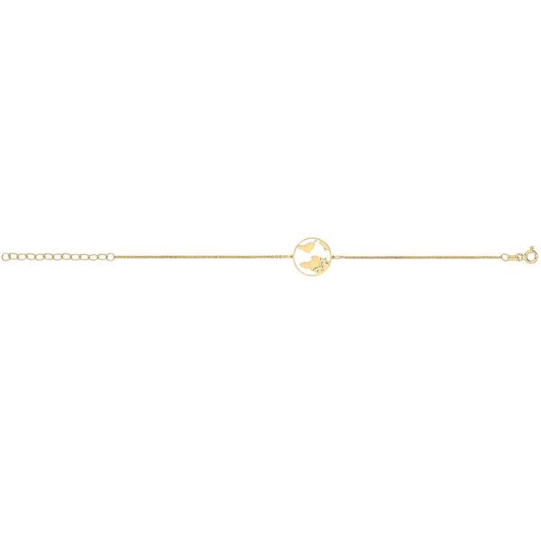 Gold World Map Bracelet